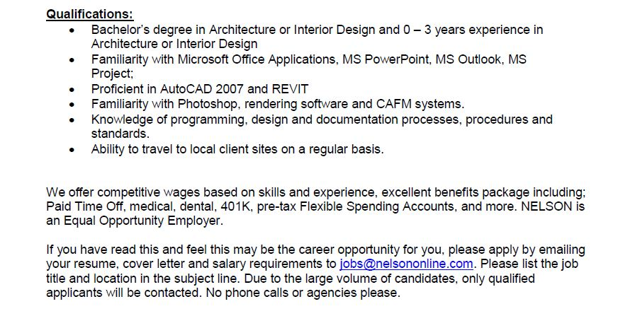 Interior Design Job Postings Interior Design Job Posting  Idcod