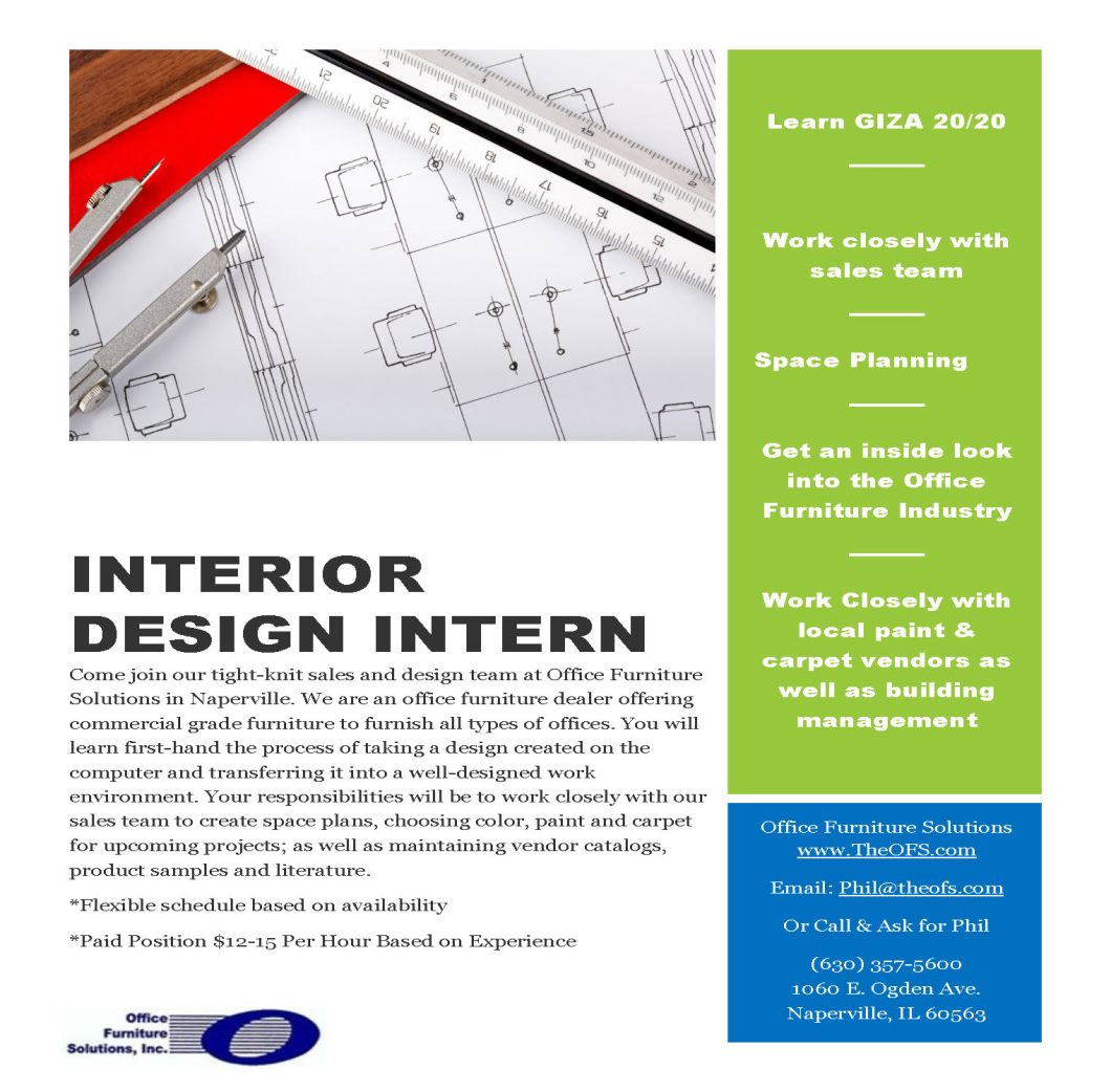 Interior design intern flyer idcod interior design for Interior design internships