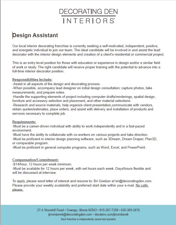 Excellent Id Jobs Idcod With Careers In Interior Design Field